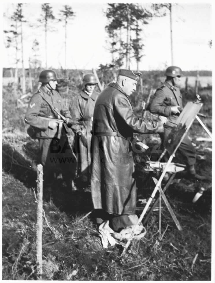 Vollbehr with Waffen-SS guards (© Beeldbank WO2)