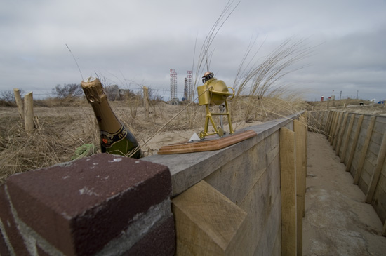 Champagne, price and brand new trenches! (Photo: Arthur van Beveren)