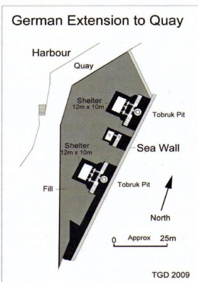 Plan of the quay with 2 x 656. (Trevor Davenport)