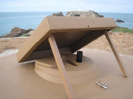 Replica M19 top on the Corbière bunker on Jersey. (Photo: Malcolm Amy)