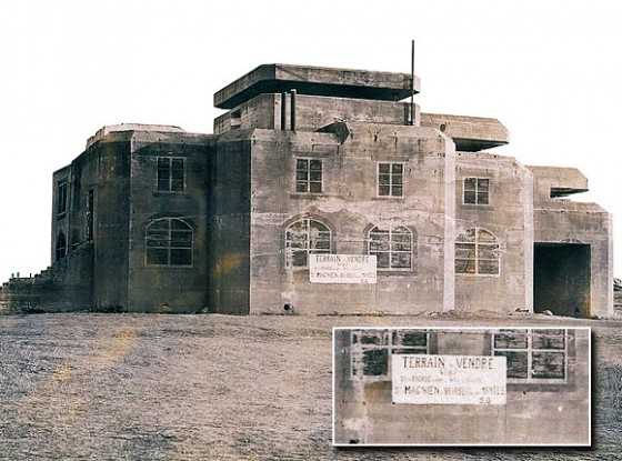 At the end of 1950s, the well known fire control post of Batz sur mer was for sale too. (Photo: www.grand-blockhaus.com)